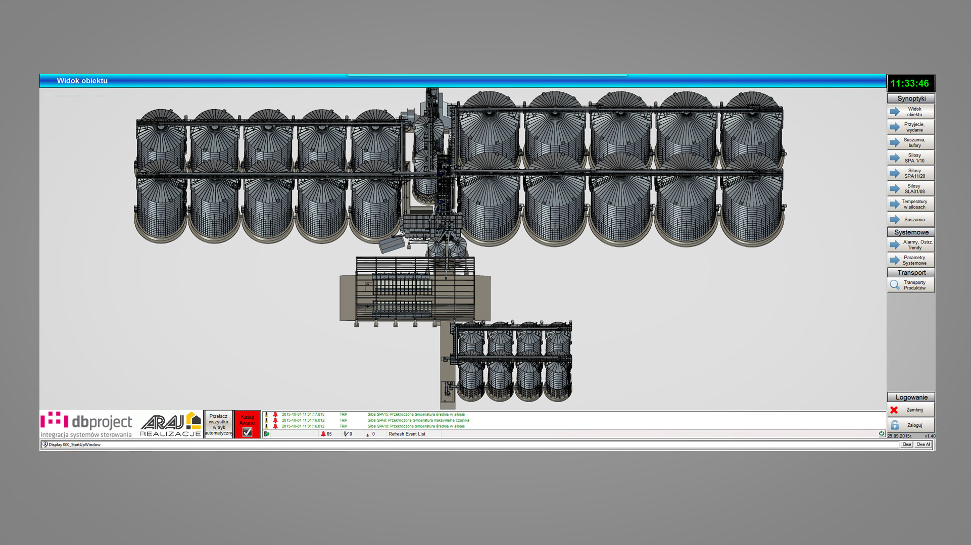 Wizualizacja obiektu przemysłowego - DB Project - Allen-Bradley