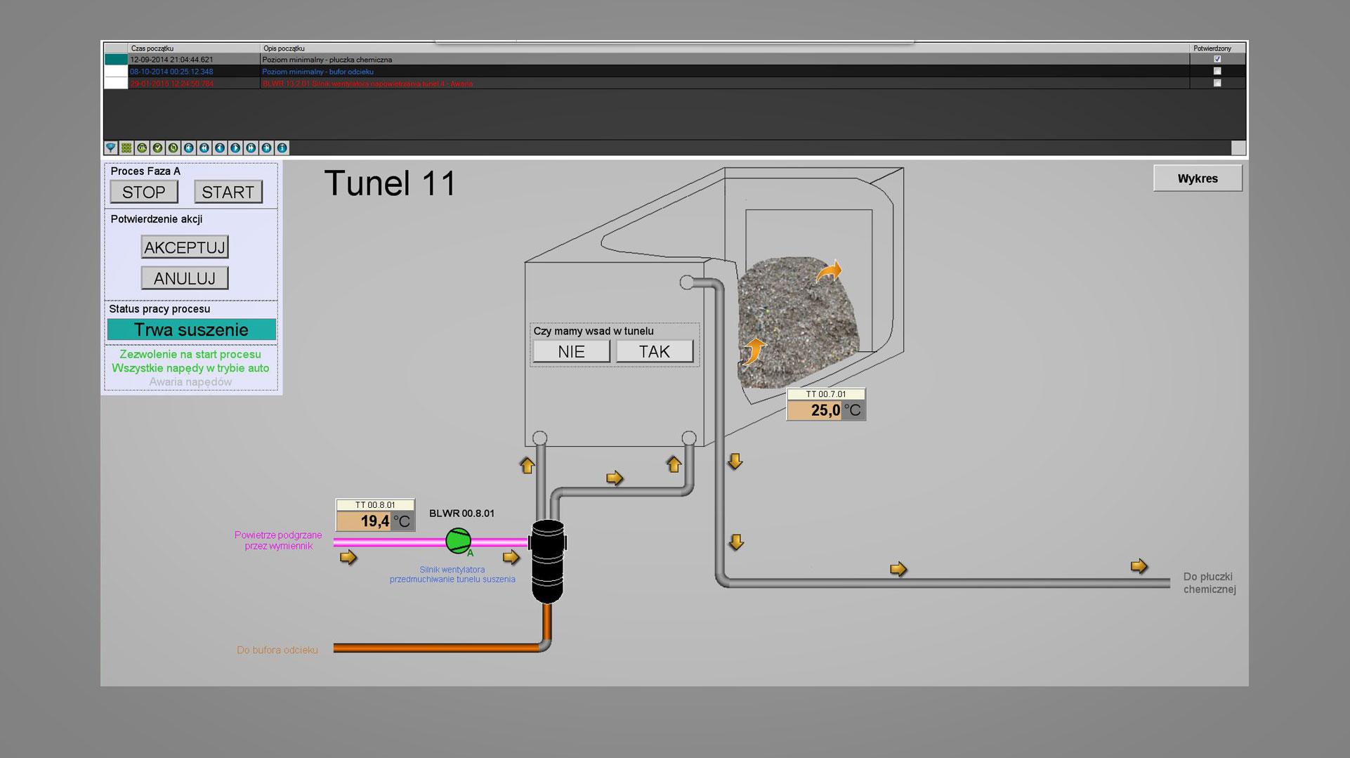 Wizualizacja DB Project - tunel osuszający zboże