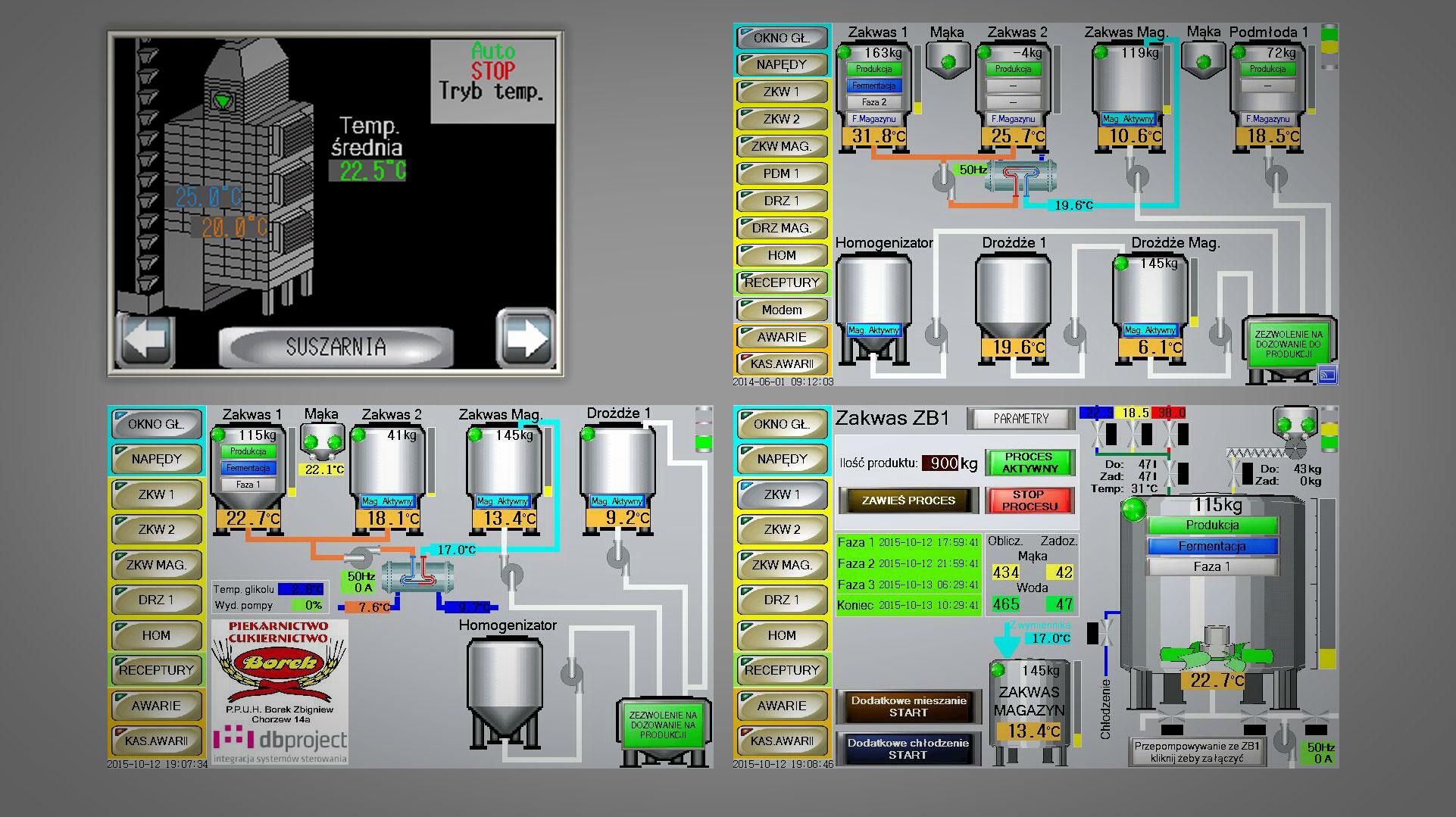 Wizualizacja pracy obiektów przemysłowych - DB Project - Pro-Face Schneider Electric